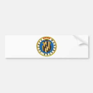 Worcester County seal Bumper Sticker