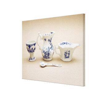 Worcester cream boat, cream jug canvas print