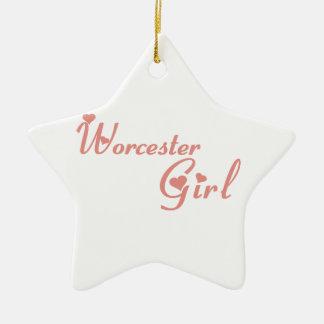 Worcester Girl Ceramic Ornament