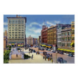 Worcester Massachusetts City Hall Plaza Poster