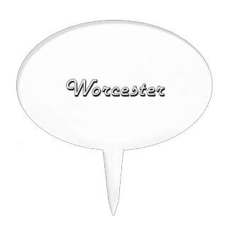 Worcester Massachusetts Classic Retro Design Cake Picks