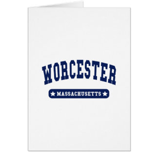 Worcester Massachusetts College Style tee shirts Cards