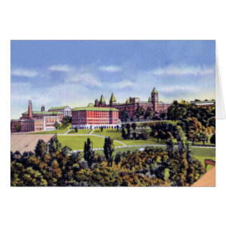 Worcester Massachusetts Holy Cross College Card