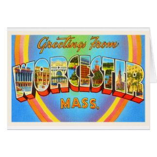 Worcester Massachusetts MA Vintage Travel Souvenir Card