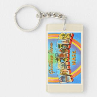 Worcester Massachusetts MA Vintage Travel Souvenir Keychain