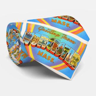 Worcester Massachusetts MA Vintage Travel Souvenir Tie