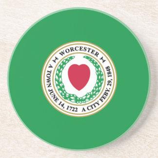 Worcester, Massachusetts, United States Sandstone Coaster
