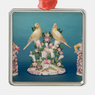 Worcester of Turk and his companion with birds Metal Ornament