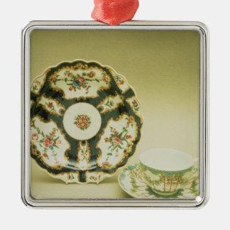 Worcester porcelain plate with blue decoration
