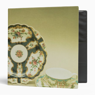 Worcester porcelain plate with blue decoration binders