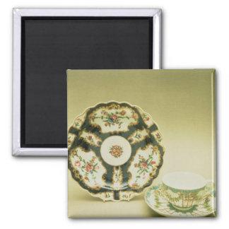 Worcester porcelain plate with blue decoration magnet