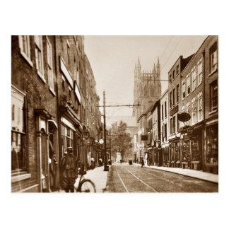 worcester UK 1927 sepia postcard