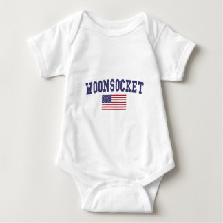 Worcester US Flag Baby Bodysuit
