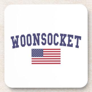 Worcester US Flag Beverage Coaster