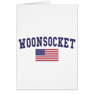 Worcester US Flag Card