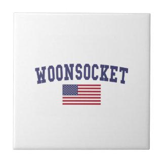 Worcester US Flag Ceramic Tile