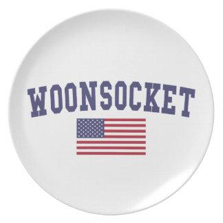 Worcester US Flag Dinner Plate