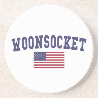 Worcester US Flag Drink Coaster
