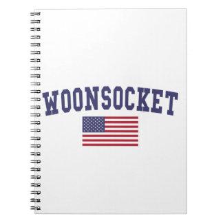 Worcester US Flag Notebook