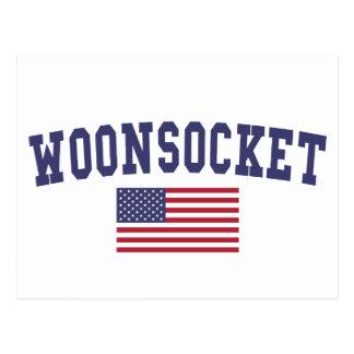 Worcester US Flag Postcard
