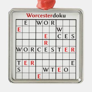 worcesterdoku metal ornament