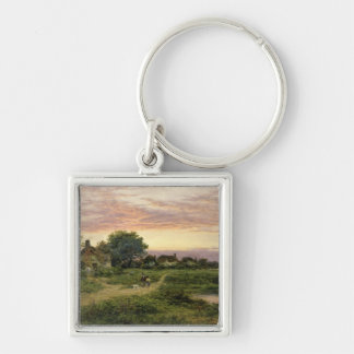 Worcestershire Cottages, 1912 Keychain