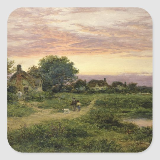 Worcestershire Cottages, 1912 Square Sticker