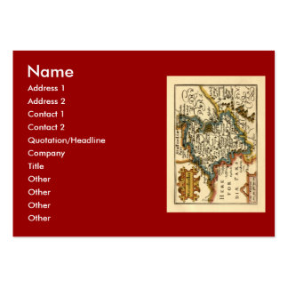 Worcestershire County Map, England Large Business Cards (Pack Of 100)
