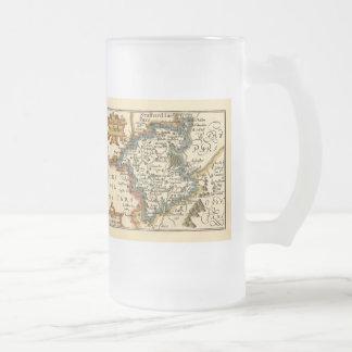 Worcestershire County Map, England Mug