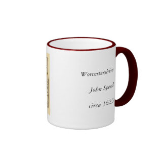 Worcestershire County Map, England Mugs