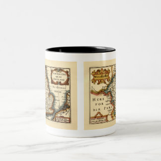 Worcestershire County Map, England Two-Tone Coffee Mug