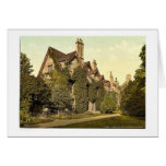 Worchester College, Oxford, England rare Photochro Greeting Card