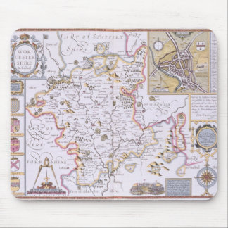 Worchestershire, engraved by Jodocus Hondius Mouse Pads
