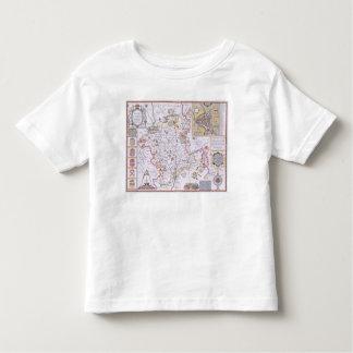 Worchestershire, engraved by Jodocus Hondius T-shirt