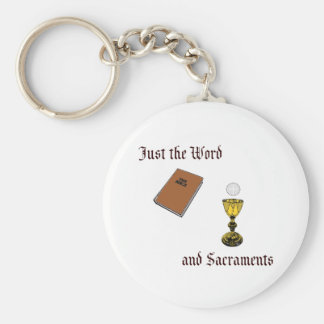 Word and Sacraments Basic Round Button Keychain