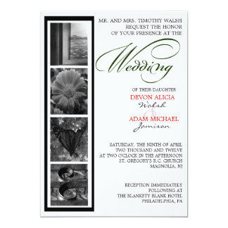 Word Art Alphabet Photography Wedding Invitations