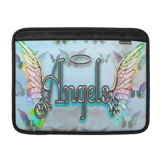 Word Art Angel with Wings & Halo MacBook Sleeves
