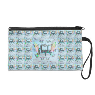 Word Art Angel with Wings & Halo Wristlet