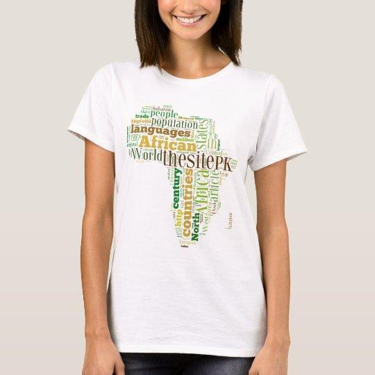 Word art, contours of Africa T-Shirt