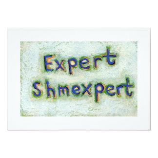 Word art expert shmexpert trust yourself wisdom announcement