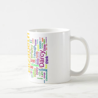Word Art from Jane Austen's Pride and Prejudice Coffee Mug