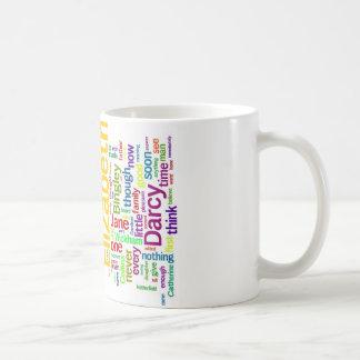 Word Art from Jane Austen's Pride and Prejudice Coffee Mug