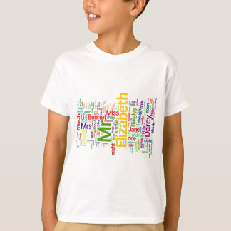 Word Art from Jane Austen's Pride and Prejudice T-Shirt