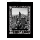 Word Art: Thank You in Multi Languages NYC Skyline Card