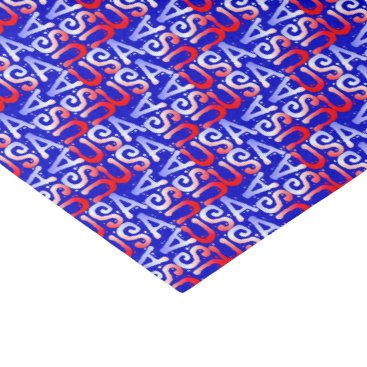 USA Themed Word Art USA Text,Blue-TISSUE WRAPPING PAPER
