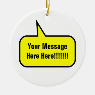 Word Balloon Double-Sided Ceramic Round Christmas Ornament