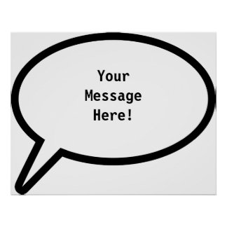 Word Balloon, YourMessageHere! Poster