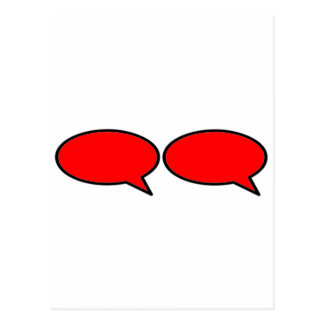 Word Bubble 2 Right Red The MUSEUM Zazzle Gifts Postcard