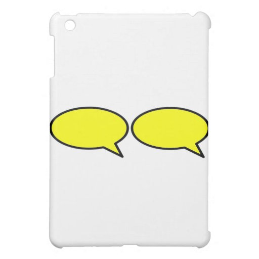 Word Bubble 2 Right Yellow The MUSEUM Zazzle Gifts iPad Mini Cases