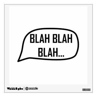 Word Bubble Blah Wall Decal